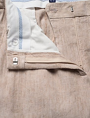 Gant - D2. STRETCH LINEN SLIM SLOUCH PANT - pantalons droits - dark khaki - 3