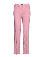 D2. STRETCH LINEN SLIM SLOUCH PANT - RAPTURE ROSE