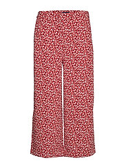 D2. FRENCH FLORAL FLUID CULOTTE - IRON RED