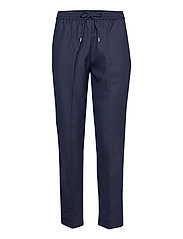 D1. WOOL BLEND PULL ON PANT - EVENING BLUE