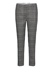 D1. CHECKED CLASSIC TAPERED PANT - EVENING BLUE