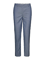 D1. WASHABLE CHAMBRAY TAPERED PANT - PERSIAN BLUE