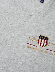 GANT - ARCHIVE SHIELD SS T-SHIRT - t-shirts - grey melange - 2