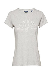 D1. MIXED GRAPHICS SS T-SHIRT - LIGHT GREY MELANGE
