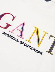 GANT - D1. COLOR GRAPHIC SS T-SHIRT - t-shirts - eggshell - 2