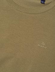 GANT - ORIGINAL SS T-SHIRT - basic t-shirts - olive green - 2