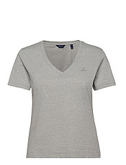 ORIGINAL V-NECK SS T-SHIRT - LIGHT GREY MELANGE