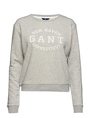 O1. SEASONAL LOGO SWEAT - LIGHT GREY MELANGE