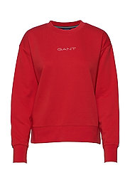 D1. 13 STRIPES C-NECK SWEAT - FIERY RED
