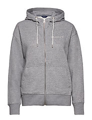 D1. 13 STRIPES FULL ZIP HOODIE - GREY MELANGE