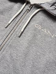 GANT - D1. 13 STRIPES FULL ZIP HOODIE - hoodies - grey melange - 2