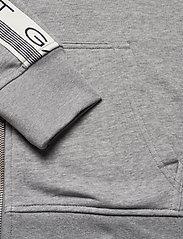 GANT - D1. 13 STRIPES FULL ZIP HOODIE - hoodies - grey melange - 3