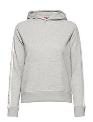 O1. GANT ICON SWEAT HOODIE - LIGHT GREY MELANGE