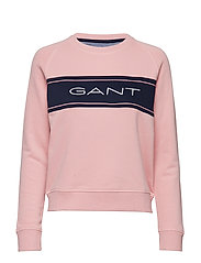 D1. GANT ARCHIVE SWEAT C-NECK - SUMMER ROSE