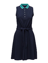 OP1. TP SLEEVELESS PIQUE DRESS - EVENING BLUE