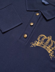 GANT - D1. CROWN EMBROIDERY POLO PIQUE - t-shirt & tops - evening blue - 2