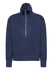 D1. HALF ZIP SWEAT - EVENING BLUE