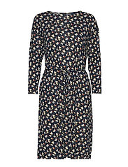 D1. AOP JERSEY DRESS - EVENING BLUE