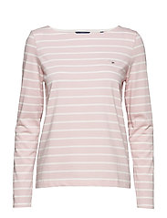 BRETON STRIPE BOATNECK JUMPER - CALIFORNIA PINK