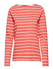 BRETON STRIPE BOATNECK JUMPER - WATERMELON RED