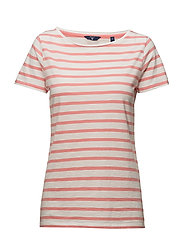 O2. BRETON STRIPE SS T-SHIRT - STRAWBERRY PINK