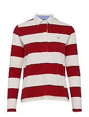 ORIGINAL BARSTRIPE HEAVY RUGGER LS - BRIGHT RED