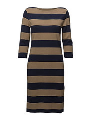 O1. STRIPED BOATNECK DRESS