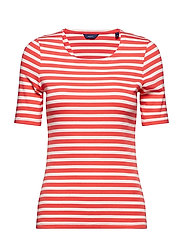 STRIPED 1X1 RIB SS T-SHIRT