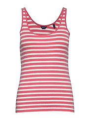 D1. STRIPED 1x1 RIB TANK TOP - RAPTURE ROSE