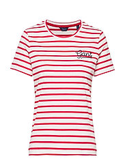 D1. BRETON STRIPE SS T-SHIRT - BRIGHT RED