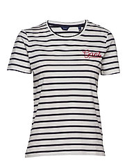 D1. BRETON STRIPE SS T-SHIRT - EVENING BLUE
