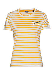 D1. BRETON STRIPE SS T-SHIRT - WARM SUN