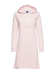 O1. ARCH HOODIE DRESS - CALIFORNIA PINK