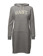 O1. ARCH HOODIE DRESS - GREY MELANGE