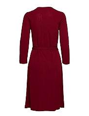 O2. WRAP DRESS SOLID - WINTER WINE