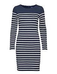 O2. STRIPED SHIFT DRESS - MARINE