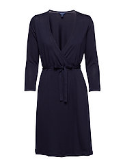 O1. SOLID WRAP DRESS