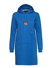 O1. GANT SHIELD HODDIE DRESS - PALACE BLUE