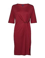 D1. WAIST KNOT DRESS - CRIMSON RED