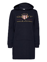 D1. ARCHIVE SHIELD HOODIE DRESS - EVENING BLUE