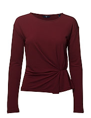 O2. WAIST DETAIL TOP - WINTER WINE