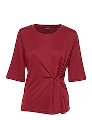D1. WAIST KNOT TOP - CRIMSON RED