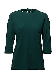 OP2. BOW BACK 3/4 SLEEVE TOP - JUNE BUG GREEN