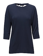 OP2. BOW BACK 3/4 SLEEVE TOP - MARINE