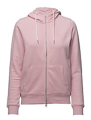 O1. TONAL SHIELD FULL ZIP HOODIE - SHADOW ROSE