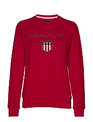 GANT SHIELD LOGO C-NECK SWEAT - RED