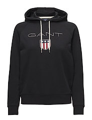 GANT SHIELD SWEAT HOODIE - BLACK