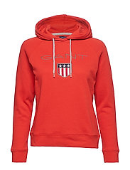 GANT SHIELD SWEAT HOODIE - BLOOD ORANGE