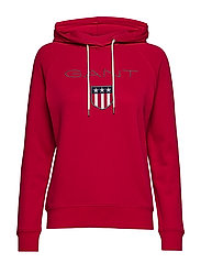GANT SHIELD SWEAT HOODIE - RED