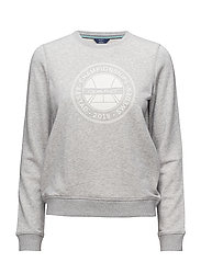 OP1. BÅSTAD C-NECK SWEAT - LIGHT GREY MELANGE